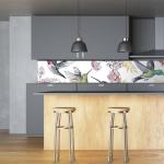 Küchenrückwand mit Motiven